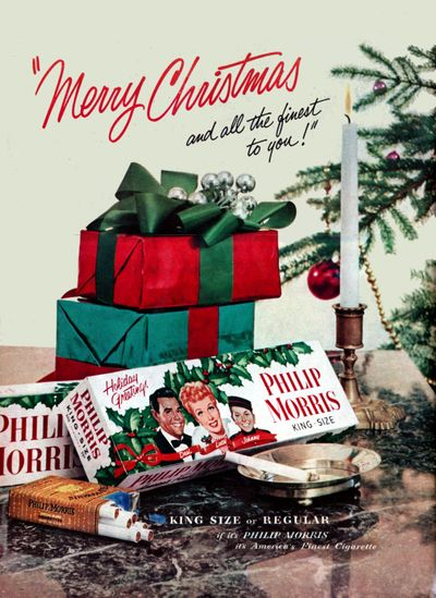 Vintage Celebrity Ads: Christmas Edition