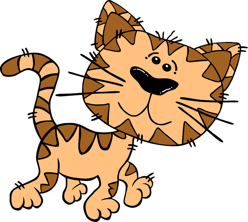 Cat on a Cool Linoleum Floor