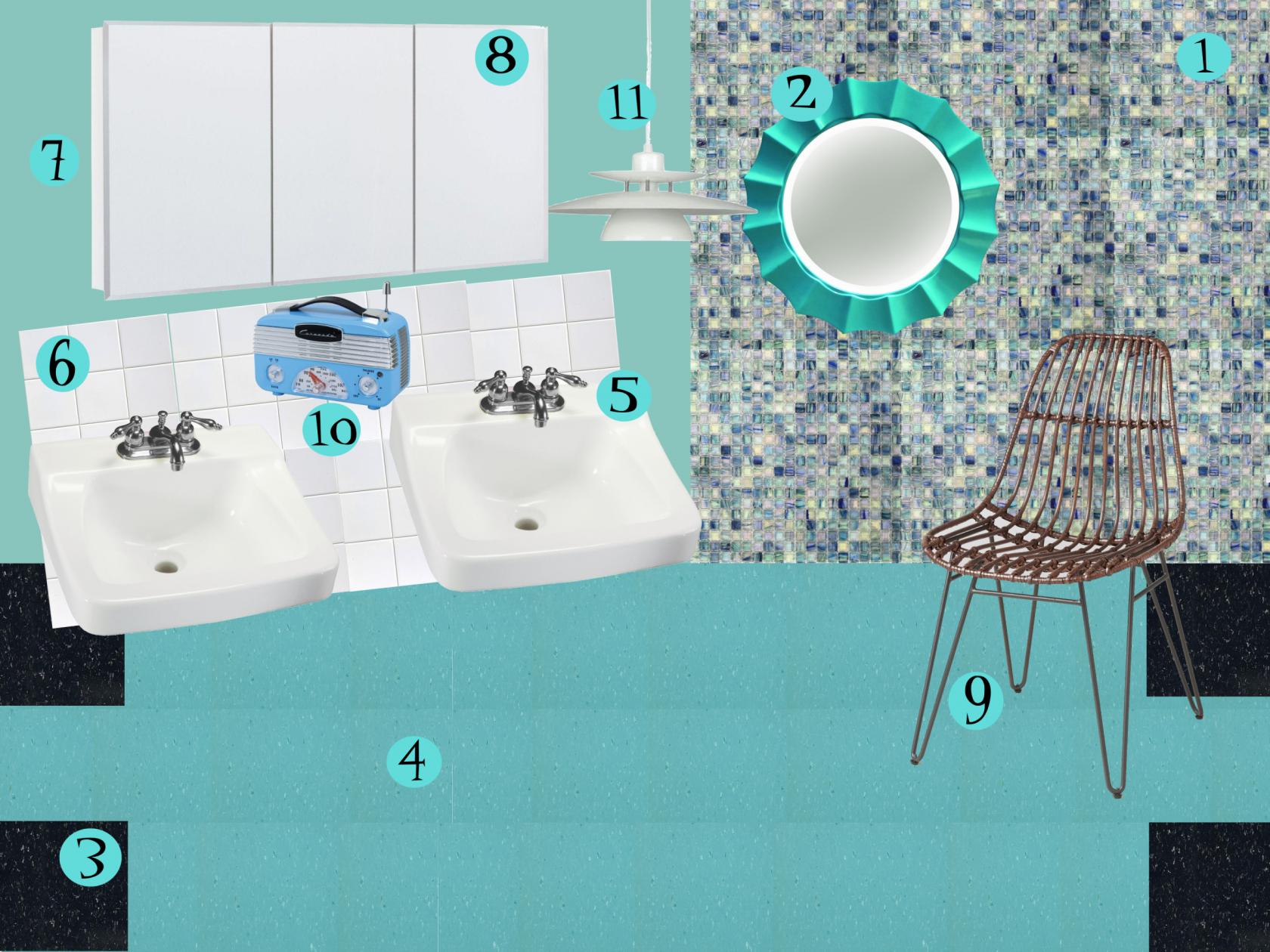 Vintage Turquoise Bathroom Recreated